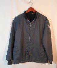Vintage Fleece Lined GM Jacket W/ GM & American Flag Patches SZ Small Americana