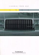 Big 1994 LINCOLN TOWN CAR Brochure / Catalog: SIGNATURE,CARTIER