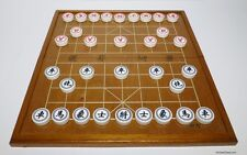 "XIANGQI (CHINESE CHESS) with FOLDING FRAMED INLAID 14½"" TRAVEL BOARD (844)"