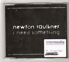 (FZ911) Newton Faulkner, I Need Something - 2007 DJ CD