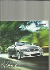 LEXUS IS 250C SE-I SE-I FULL MAP,SE-L & SE-L ACC/PCS BROCHURE JULY 2009 FOR 2010