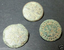 3 SMALL ANTIQUE BUTTON CENTURY XVIII OLD BOUTON BUTTON BOTON SEE MY SHOP CCB5