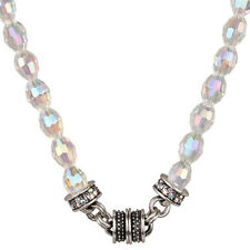 NEW KIRKS FOLLY CRYSTAL DESIRE BEAD MAGNETIC NECKLACE ST/CRYSTAL AB