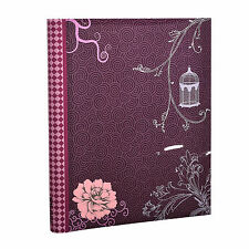 Purple Vintage Bird Photo Album Large Self Adhesive 20 sheets  40 Sides - DT40