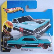 Hotwheels (2013)'66 Chevy Nova-Luz Azul - #231/250 - 1/64 - HW Showroom
