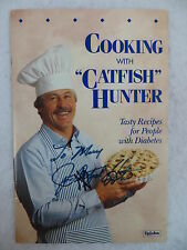"COOKING WITH ""CATFISH"" HUNTER PAMPHLET The Upjohn Company c1990 SIGNED"