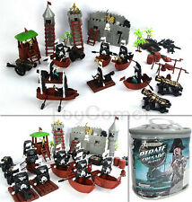 100 pcs Pirate Skull Toy Soldier Playset Castle Ship Boat Figure Cannon Model