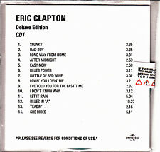 ERIC CLAPTON Deluxe Edition UK 28-trk numbered/watermarked promo test 2CD sealed