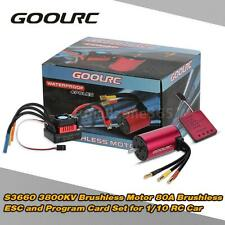 GoolRC S3660 3800KV Motor +80A ESC Program Card Combo Set for RC Car Truck I0G7
