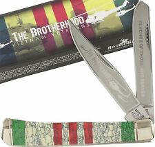 Rough Rider Vietnam Veteran Commemorative Trapper Pocket Folding Knife RR1226