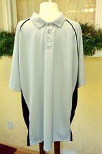 David Taylor Pro 2XLT Polo Golf Shirt Gray Black Short Sleeves Polyester Classic