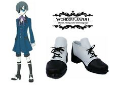 2016 black Butler Ciel Phantomhive Cosplay Boots Boot Shoes Custom size
