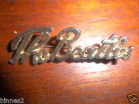 THE BEATLES SCRIPT 1960's BROOCH-BADGE-PIN GOLD (COLOUR) fully working pin/clasp