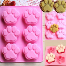 FD2528 Cat Paws Silicone Baking Mould Cake Chocolate Soap Candle Ice Mold Cute ♫