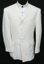New Ivory Off-White Western Mandarin Nehru Tuxedo Jacket Halloween Beatles 40R