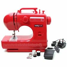 Hobbycraft Red Midi Sewing Machine Stitching Craft Food Pedal Adjustable Speed