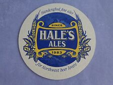 Beer Coaster    HALE's Ales Handcrafted Since 1983    WASHINGTON State Locations