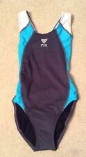 NWOT! Womens TYR Grey/Blue/White One Piece Swimsuit Sz XSTP