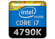 "Intel Core i7 4790K 1""x1"" Chrome Domed Case Badge / Sticker Logo"