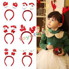 Navidad Santa lindo Snowman Hairband Headband partido de Navidad Decoración azar