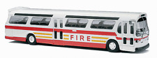 "Busch 1/87 HO 1959 GMC TDH-5301 Fishbowl City Bus ""FDNY FIRE"" 44550"