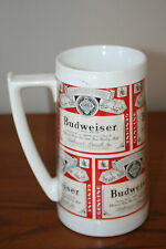 Budweiser Plastic Beer Mug Thermo-Sero Made in the USA advertising stein cup