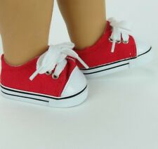 Red Tennis Shoes for American Girl Dolls - Great for Boys or Girls!