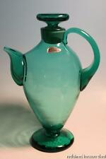Blenko Glass Cocktail Decanter Pitcher 573 Sea Green Husted RARE
