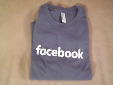 Facebook Logo Graphic T Shirt Grey Color Mens Size L American Apparel 100%Cotton