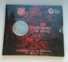2015 Royal Nuovo di zecca ALDERNEY £ 5 Pound Coin 150th anniversario dell'esercito della salvezza.