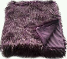 Threshold Faux Ostrich Fur Throw Blanket Purple -  Target NEW with TAGS Brown