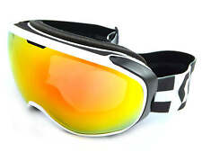 SCOTT - FIX ski snow Goggles WHITE-BLACK/ Amplifier Red Chrome CAT.2 Lens 244589