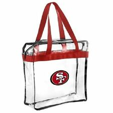 SF San Francisco 49ers Clear Plastic Zipper Tote Bag 2016 NFL Stadium Approved