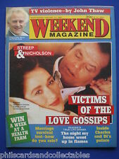 Weekend Magazine - Judy Loe, John Thaw, Streep & Nicholson - 13th Jan.1987