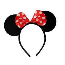 Red White Spot Minnie Mouse Ears Alice Hair Band Headband Fancy Dress Party Hen