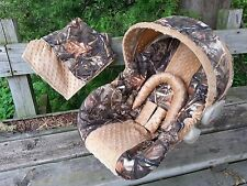 2 Piece Set - Camo Infant Car Seat Cover, Blanket, Max5 and Tan