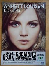ANNETT LOUISAN 2015 CHEMNITZ  orig.Concert-Konzert-Tour-Poster-Plakat DIN A1