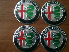 Set of 4pcs Alfa Romeo NEW DESIGN wheels emblem logo insignia 56.5mm