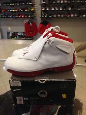 Nike Air Jordan XVIII 18 White/Varsity Red Size 10 (2003) DEADSTOCK 305869-161