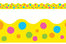 Trend Terrific Trimmers Classroom Notice Board Display Borders - Spotted Yellow
