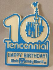 Disney Happy 10th Birthday Pin Cast Member Tencennial Blue Castle Mickey