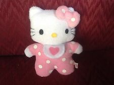 "5"" SANRIO SMILES HELLO KITTY CAT TERRY BABY LOVEY BIB PLUSH STUFFED ANIMAL DOLL"