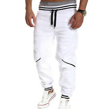 Mens Boy Casual Gym Tracksuit Bottoms Plain Jogging Trousers Joggers Sweat Pants