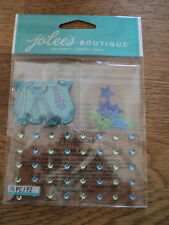 EK SUCCESS JOLEE'S BOUTIQUE BABY BOY CONFETTI AND GEMS DIMENSIONAL STICKERS BNIP