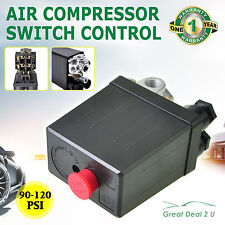 Solid Air Compressor Pump Pressure Switch Control Valve 90-120PSI Heavy Duty New