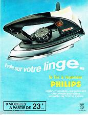 PUBLICITE ADVERTISING 066  1963  Philips  fer à repasser