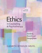 Ethics and Legal Issues: Ethics in Counseling and Psychotherapy by Elizabeth Re…
