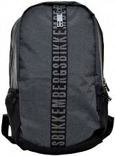 Zaino Uomo Donna Bikkembergs Backpack Men Woman Db-Zip BackPack Grey Melange D48