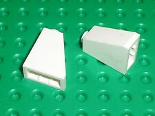 2 x LEGO white Slope Brick ref 60481 / Set 7676 10195 10215 7939 7931 7628 ...