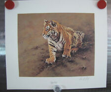 "Alan Hunt ""Tiger Cub"" Signed Open Edition  India Asia Wildlife Nature Big Cat"